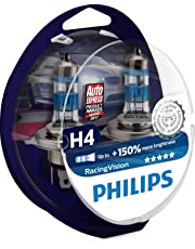 Philips RacingVision +150% H4 Scheinwerferlampe 12342RVS2, Doppelset