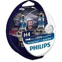 Philips 12342RVS2 RacingVision +150% H4 Scheinwerferlampe, Doppelset