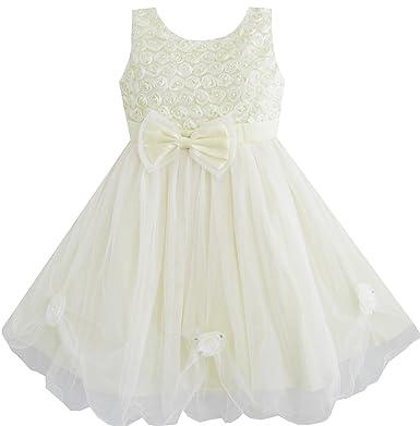 Amazon sunny fashion girls dress light yellow rose wedding sunny fashion girls dress light yellow rose wedding pageant flower girl 9 10 mightylinksfo