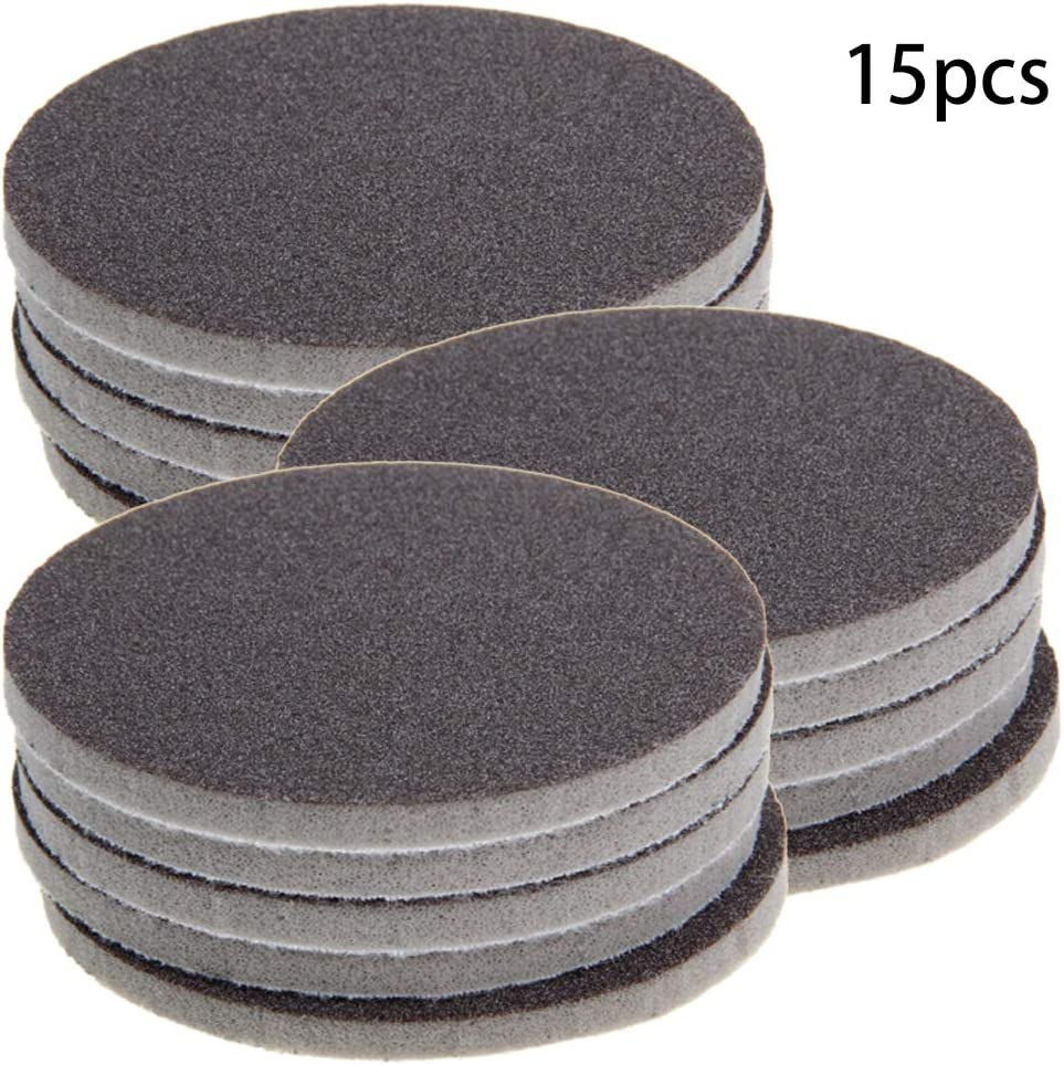 Utoolmart Round Flocking Sponge Sanding Disc Sandpaper 1.2inch Hook and Loop Soft Cushion Interface Buffer Pad for Polishing and Grinding 5pcs
