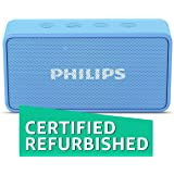 (Certified REFURBISHED) Philips BT64A Portable Bluetooth Speakers (Sky Blue)