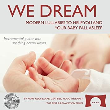Lullaby Sleep CD, We Dream: Vol  1 - Helps You and Your Baby Fall Asleep -  Soothing Guitar Music with White Noise CD, HiFi Sound, Digital Sound
