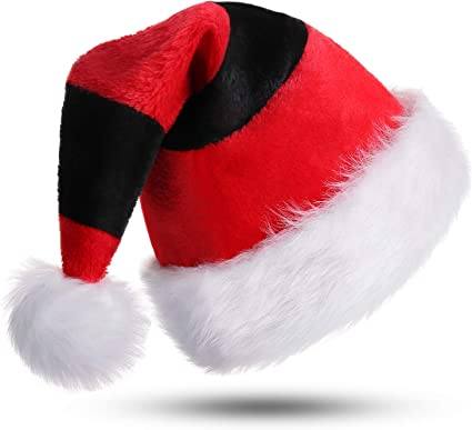 "Plush Adult's Santa Red Deluxe Hat 20/"" circ."