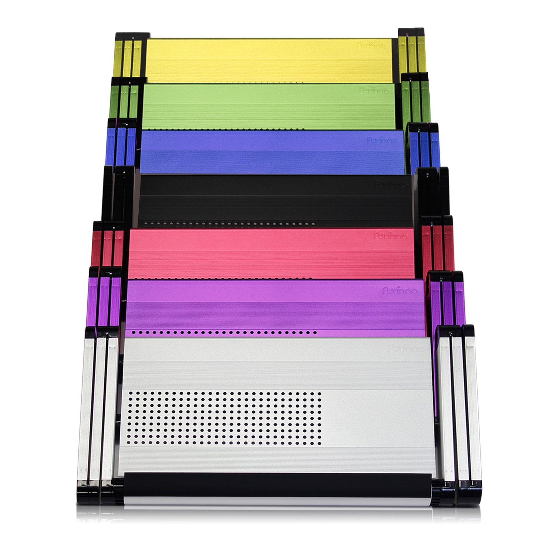Furinno alluminio ergonomia ventilato multifunzione scrivania portatile vassoio letto portatile regolabile