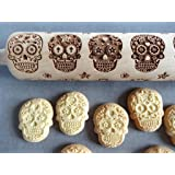 SUGAR SKULLS engraved rolling pin and cookie cutter VIDEO TEST
