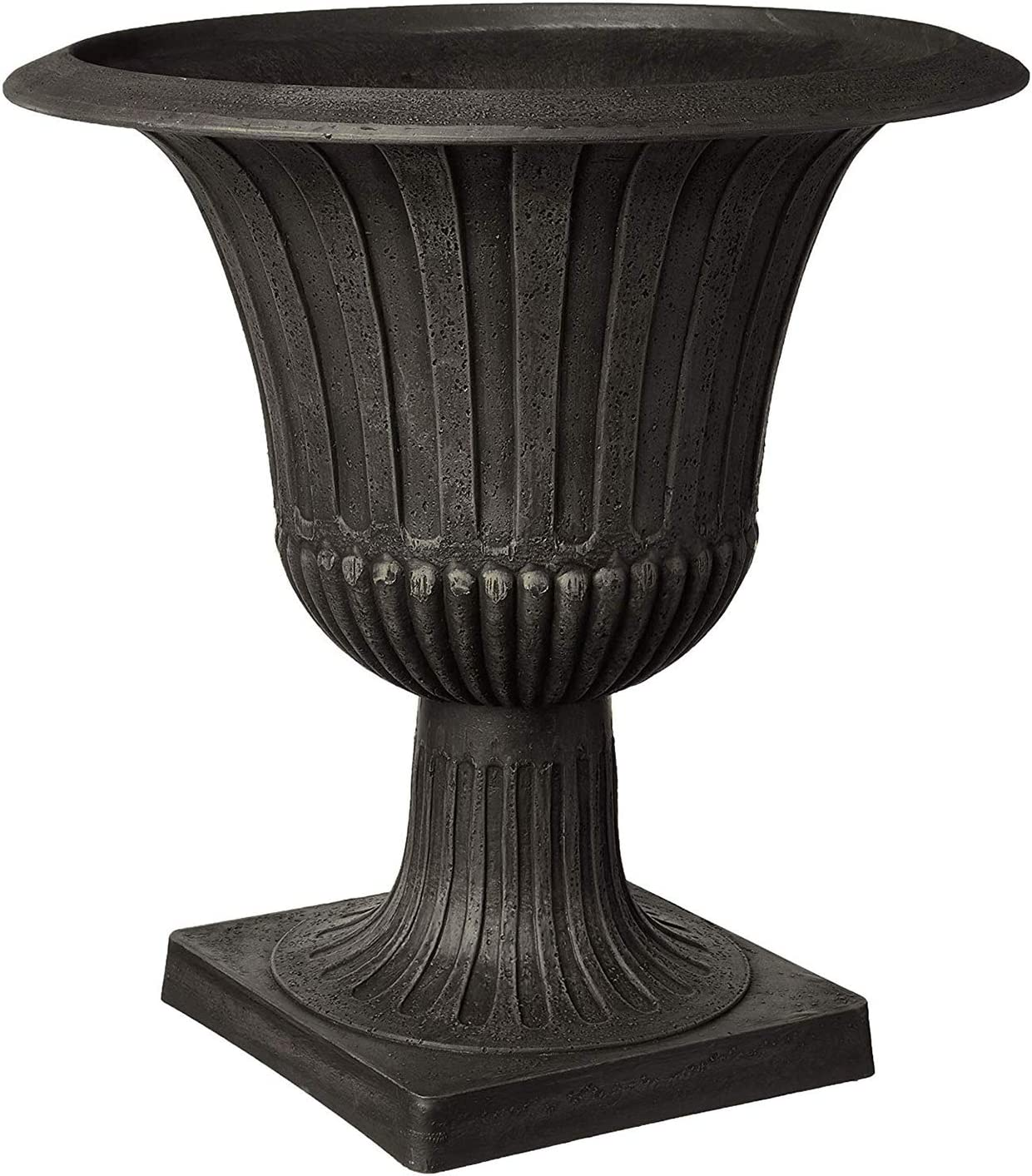 "Arcadia Garden Products G50BK Worthington Urn, 20 by 21"", Black, Inches"