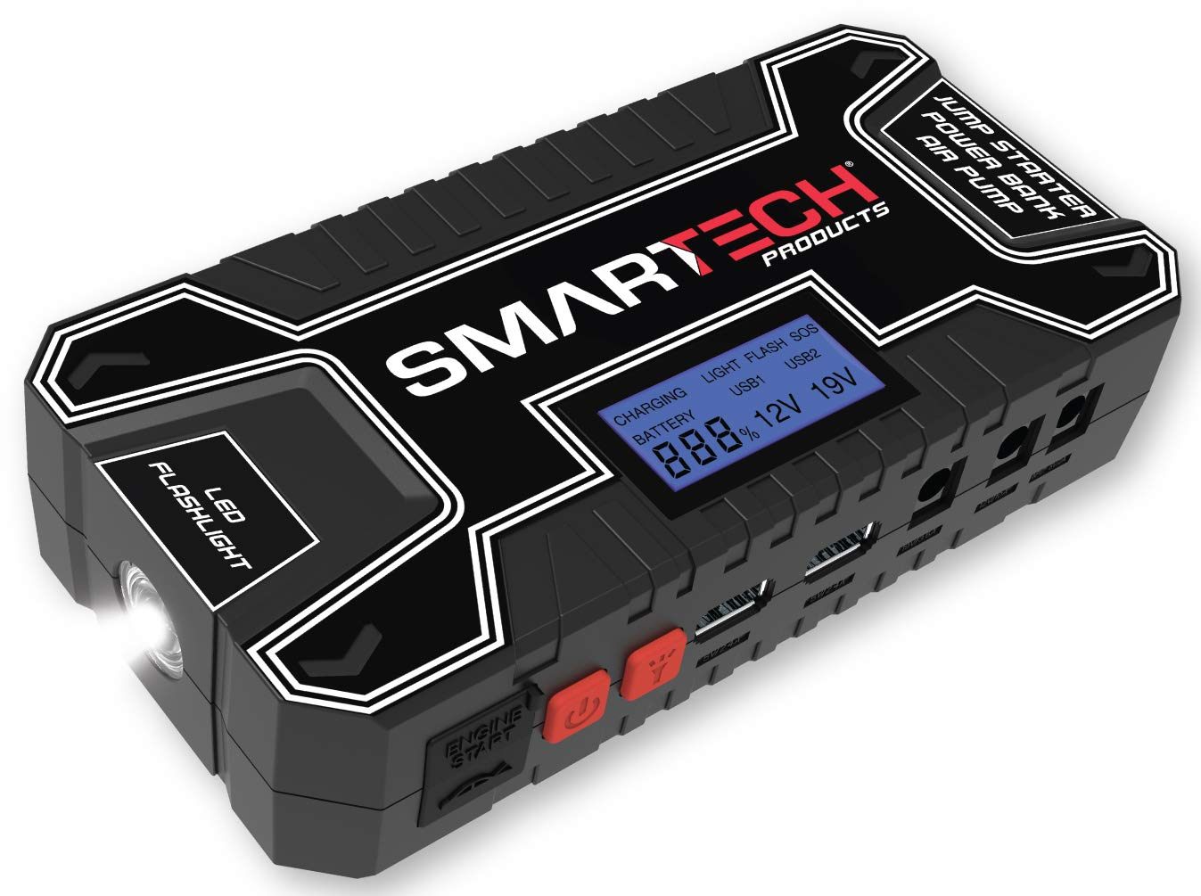 Smartech Power Kit Portable Jump Starter Power Bank Air Pump Tire inflator Air Compressor by Smartech Products (Image #1)