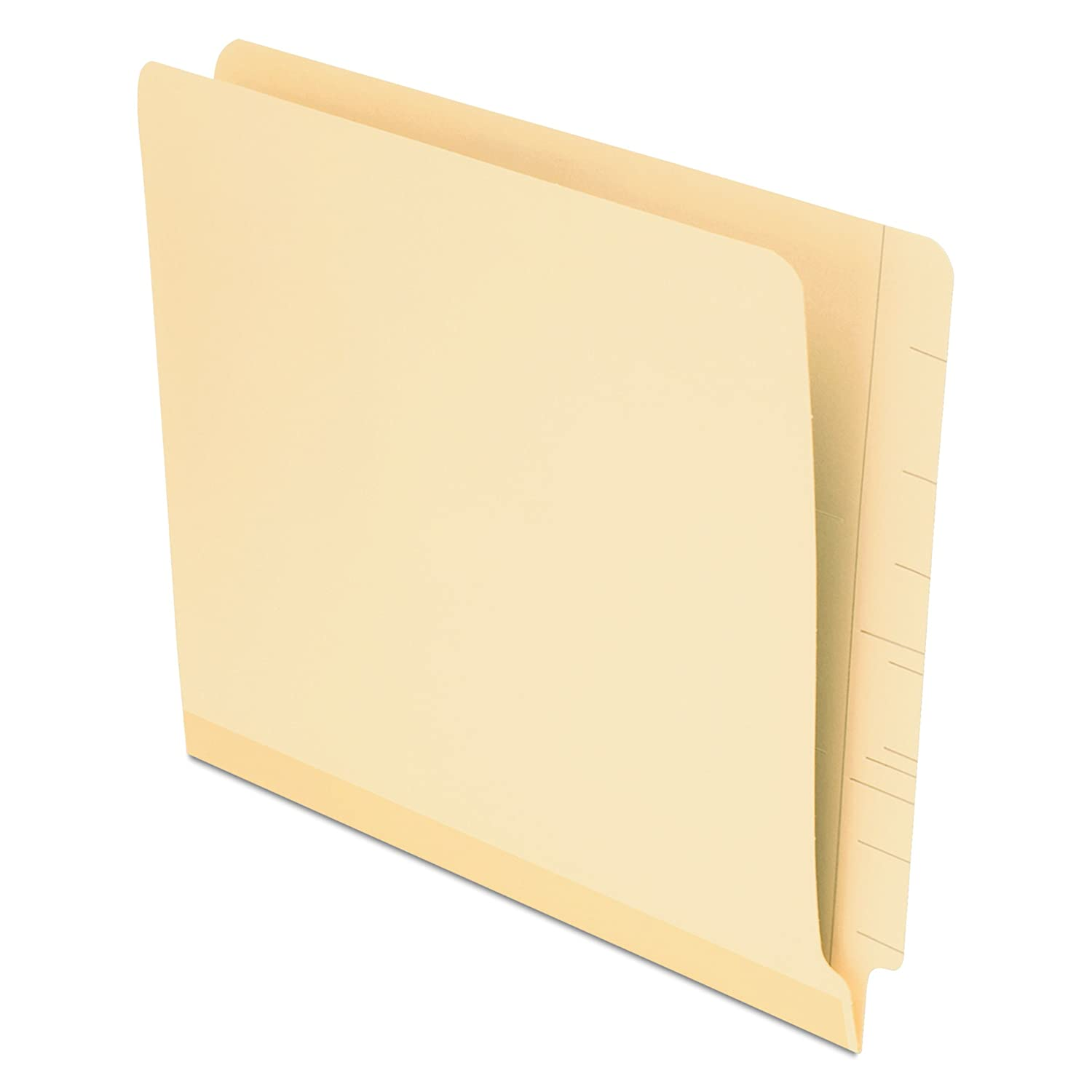 Pendaflex Laminated Spine End Tab Folders, Letter Size, Manila, 100 per Box (11035) Esselte