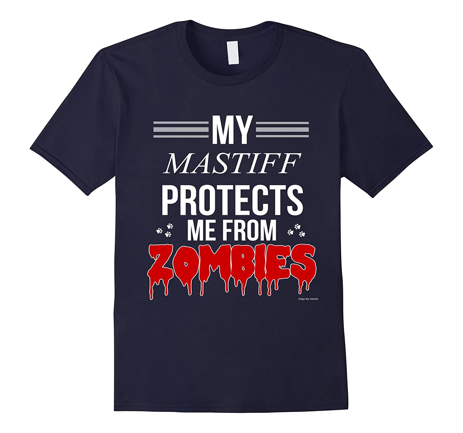 Funny Zombie Mastiff - Dog Shirt-Art