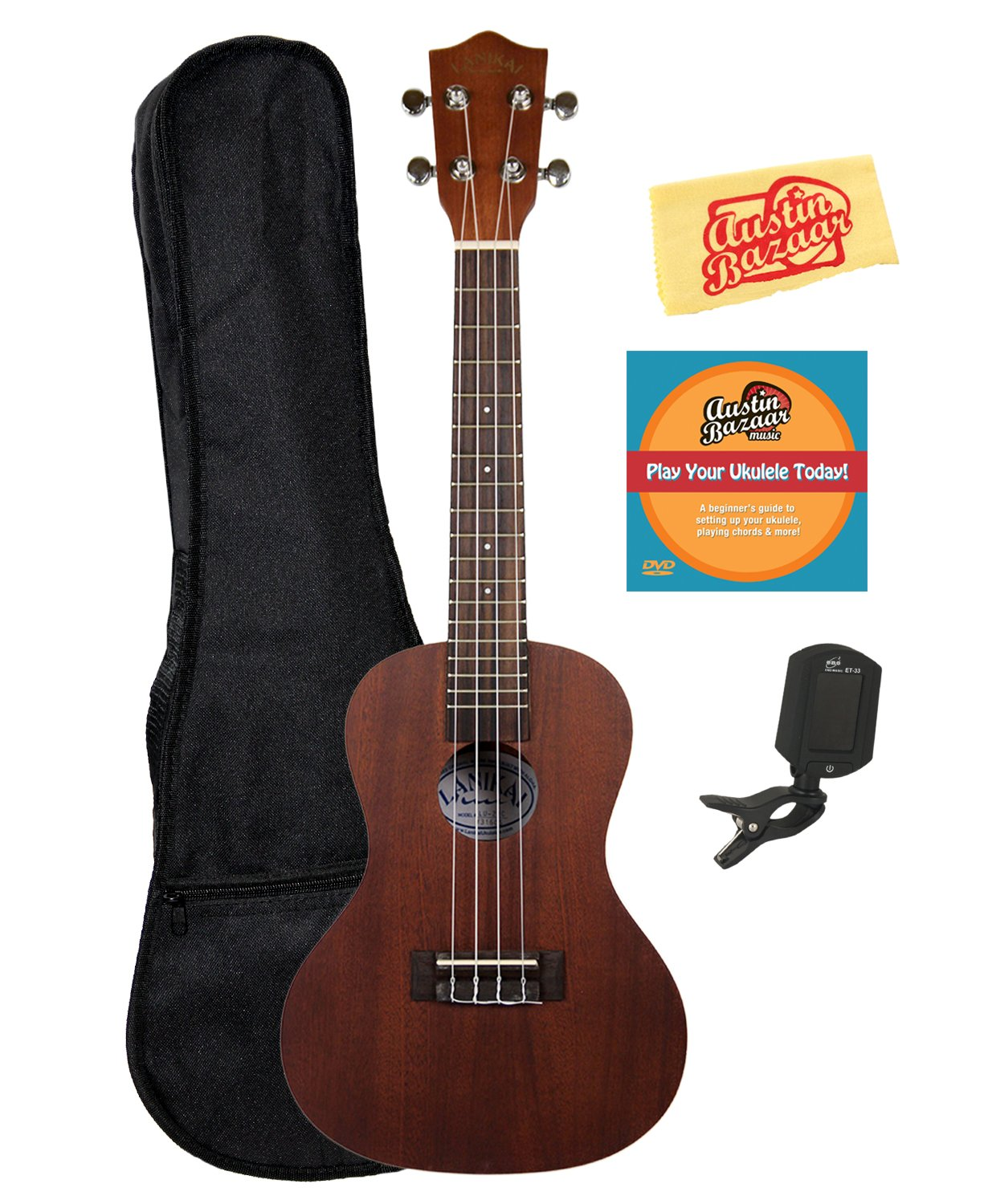 Lanikai LU-11 Soprano Ukulele Bundle with Gig Bag HOH-LU11-COMBO-STD
