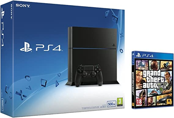 PlayStation 4 (PS4) - Consola 500GB + Grand Theft Auto V (GTA V): Amazon.es: Videojuegos
