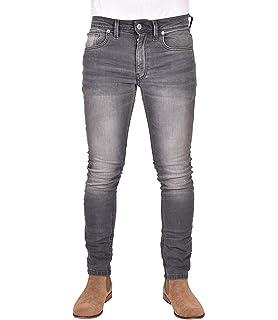 Pantalones vaqueros para hombre, ajustados, elásticos ...