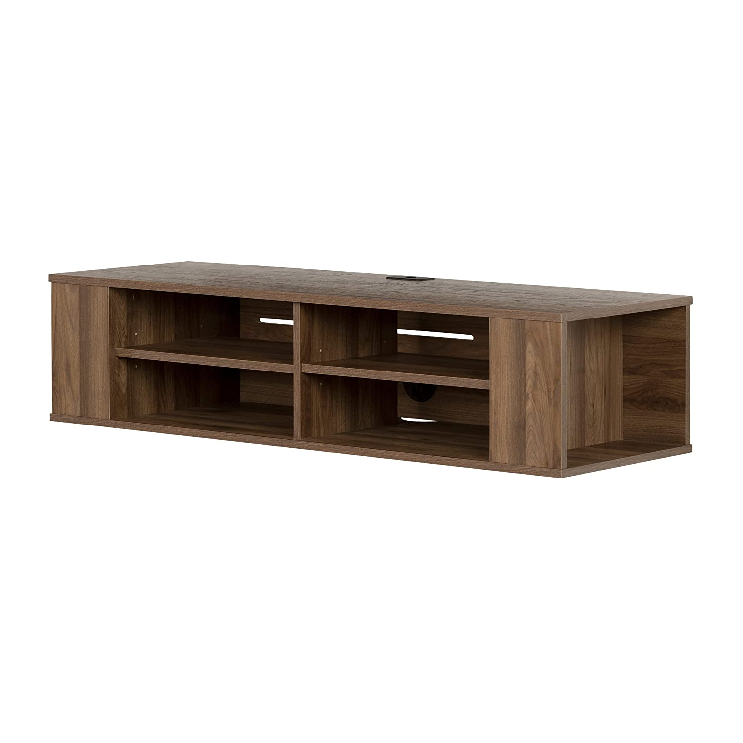 South Shore Furniture City Life Wall Mounted Media Console Shelf, Chocolate South Shore Industries Ltd 4419675