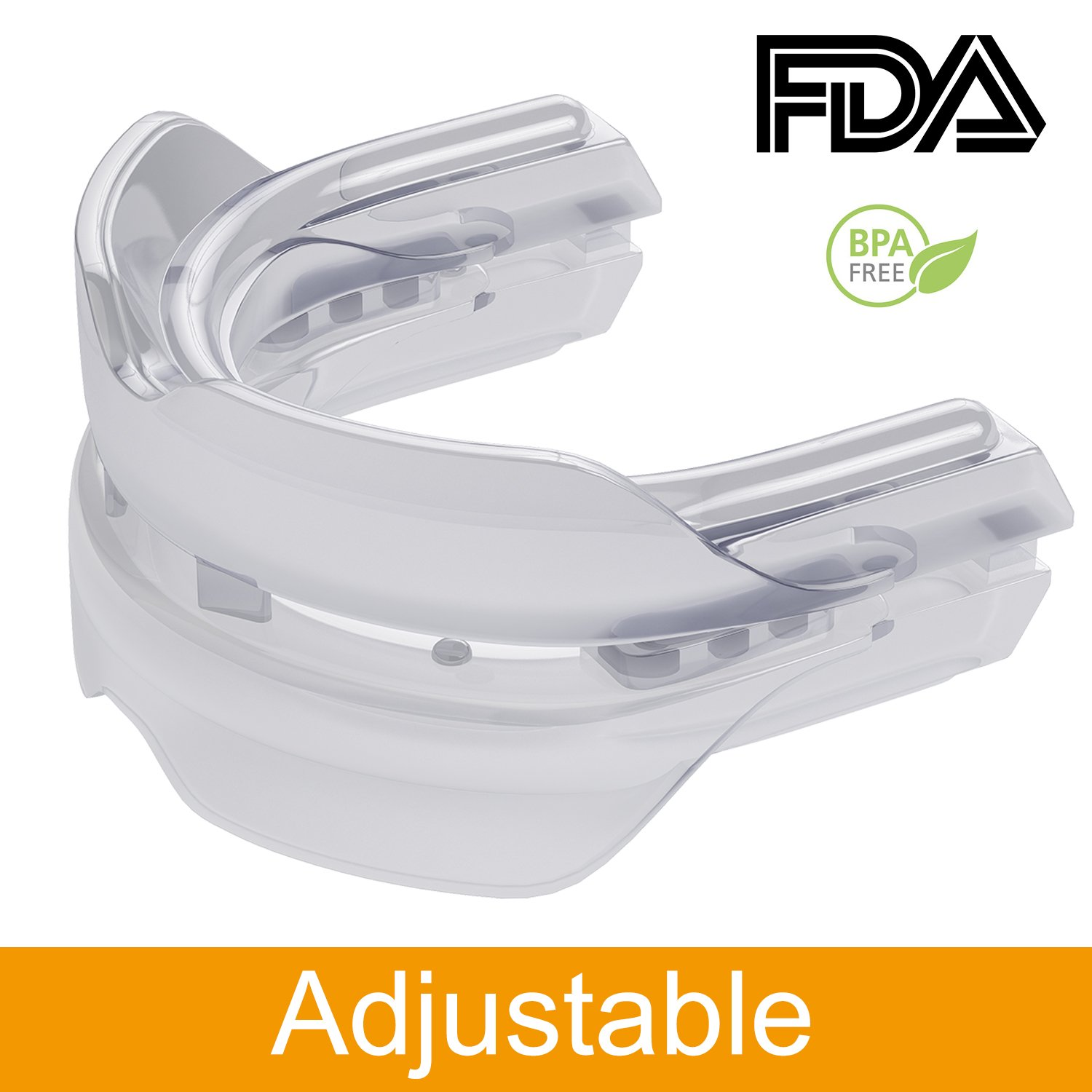 Mouth Guards for Teeth Grinding, Custom Fit Anti Snoring Night Dental Guard with Case for Sleeping Petask