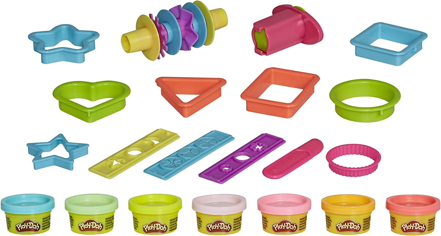 Play-Doh Makin Shapes Create It Kit for Kids 3 Years and Up with 7 Non-Toxic Colors