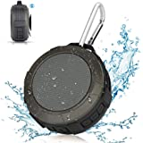 Bluetooth Speaker,Waterproof Shower Speaker,Hcman Super Portable Speaker with Micro SD Card Slot, Built-In Mic,Enhanced Bass, works with iPhone, iPad, Samsung, Nexus, HTC, Laptops (Grey)