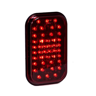 "Maxxima M42201R 44 LED Red 5"" Rectangular Stop Tail Turn Light: Automotive"