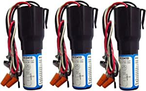 RCO410 3 in 1 Compressor Hard Start Capacitor Kit For Refrigerators & Freezers 1/4-1/3 H.P. 115VAC (3pcs)