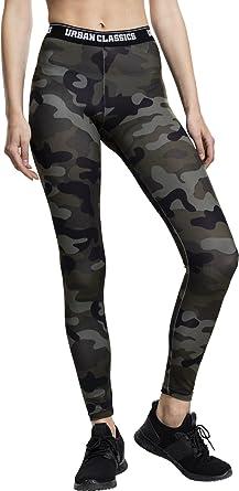 TALLA S. Urban Classics Ladies Camo Logo Leggings Mujer