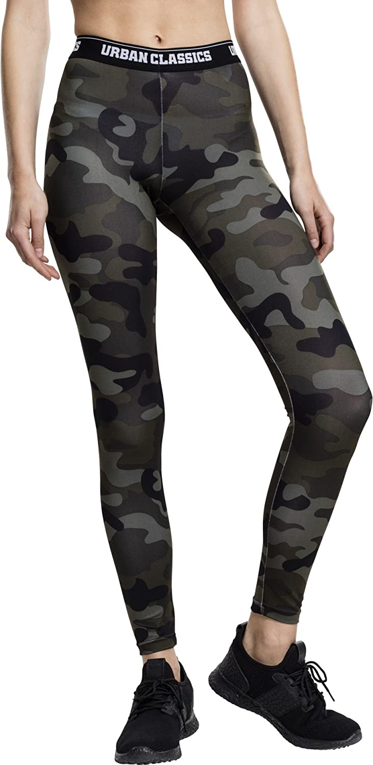 Urban Classics Ladies Camo Logo Leggings Mujer