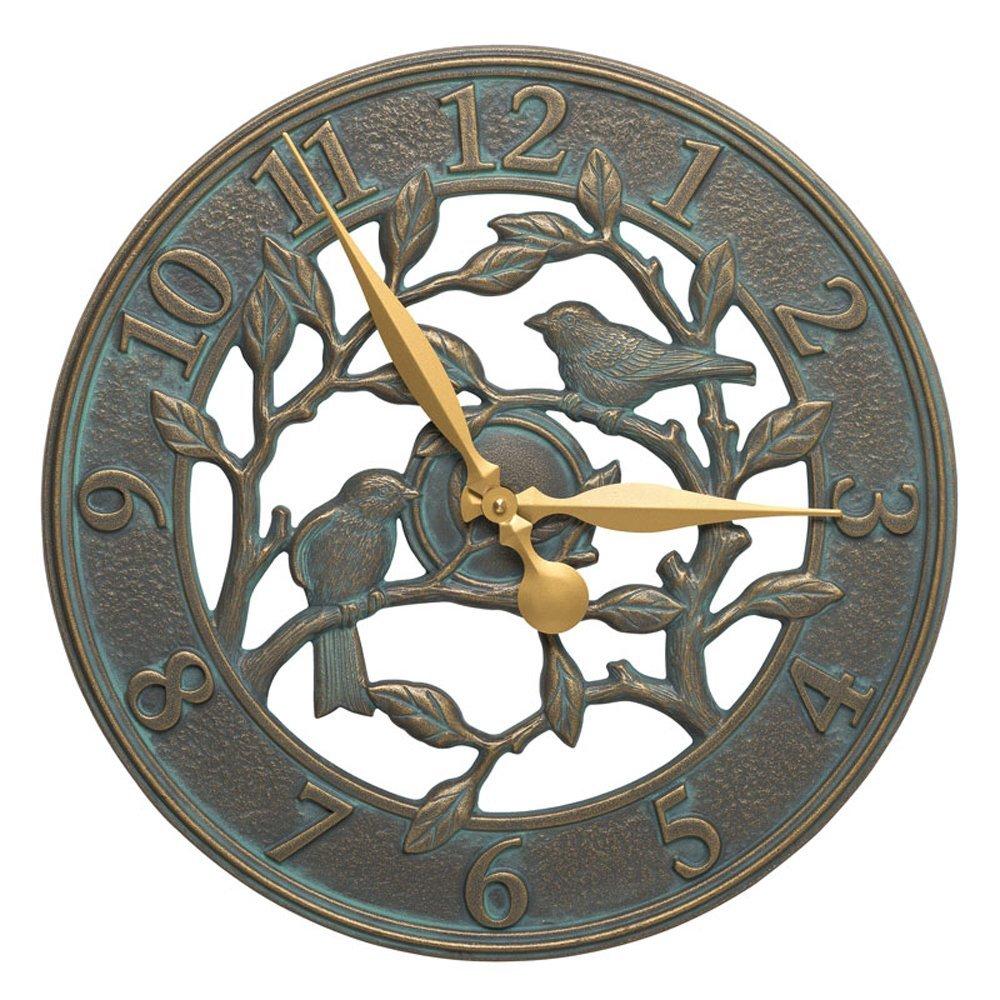 Woodridge 16-in Indoor Outdoor Wall Bird Clock - 02230