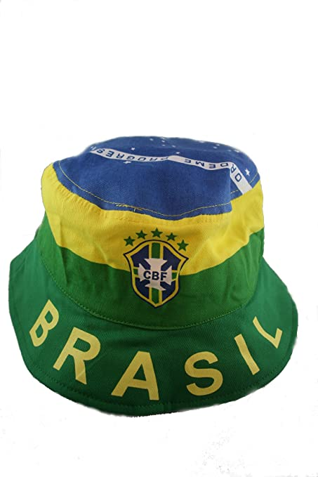 Brasil Brazil CBF Country Flag ADULT Bucket HAT World CUP Cap.. SIZE 7 3 7b29d24f70b