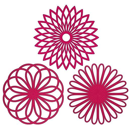 7 opinioni per Tappetino sottopentola multiuso, in silicone, a forma di fiore, set da 3 pezzi,