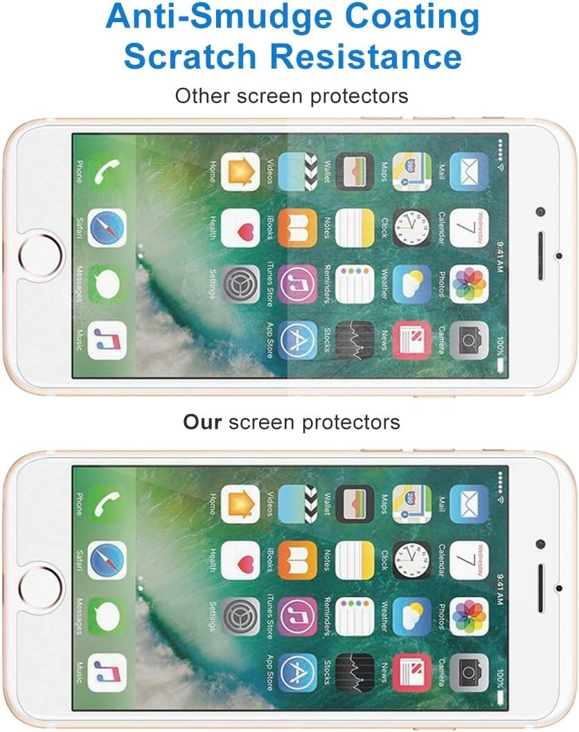 DESHENG Clear Screen Protector 50 PCS for iPhone 8 Plus /& iPhone 7 Plus 0.26mm 9H Surface Hardness 2.5D Explosion-Proof Tempered Glass Non-Full Screen Film No Retail Package Glass Film