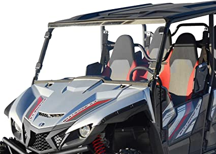 Installs in 5 Minutes! 2014-2018 SuperATV Heavy Duty Clear Scratch Resistant Full Windshield for Polaris RZR XP 1000//4 1000