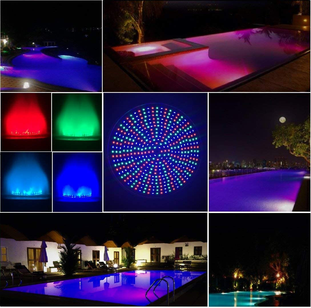 Color-changing LED Pool Light 120V 40Watt Replacement For Incandescent Bulbs in Pool Light, Color Memory, 16 light shows, Switch Control (120V,40Watt) by TOVEENEN (Image #4)
