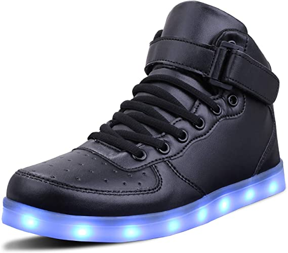 WONZOM LED Light Up Shoes USB Flashing Sneakers for ToddlerKids Boots