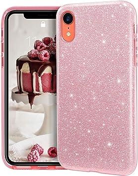 Mateprox Iphone Xr Hülle Klar Crystal Glitter Glänzende Elektronik