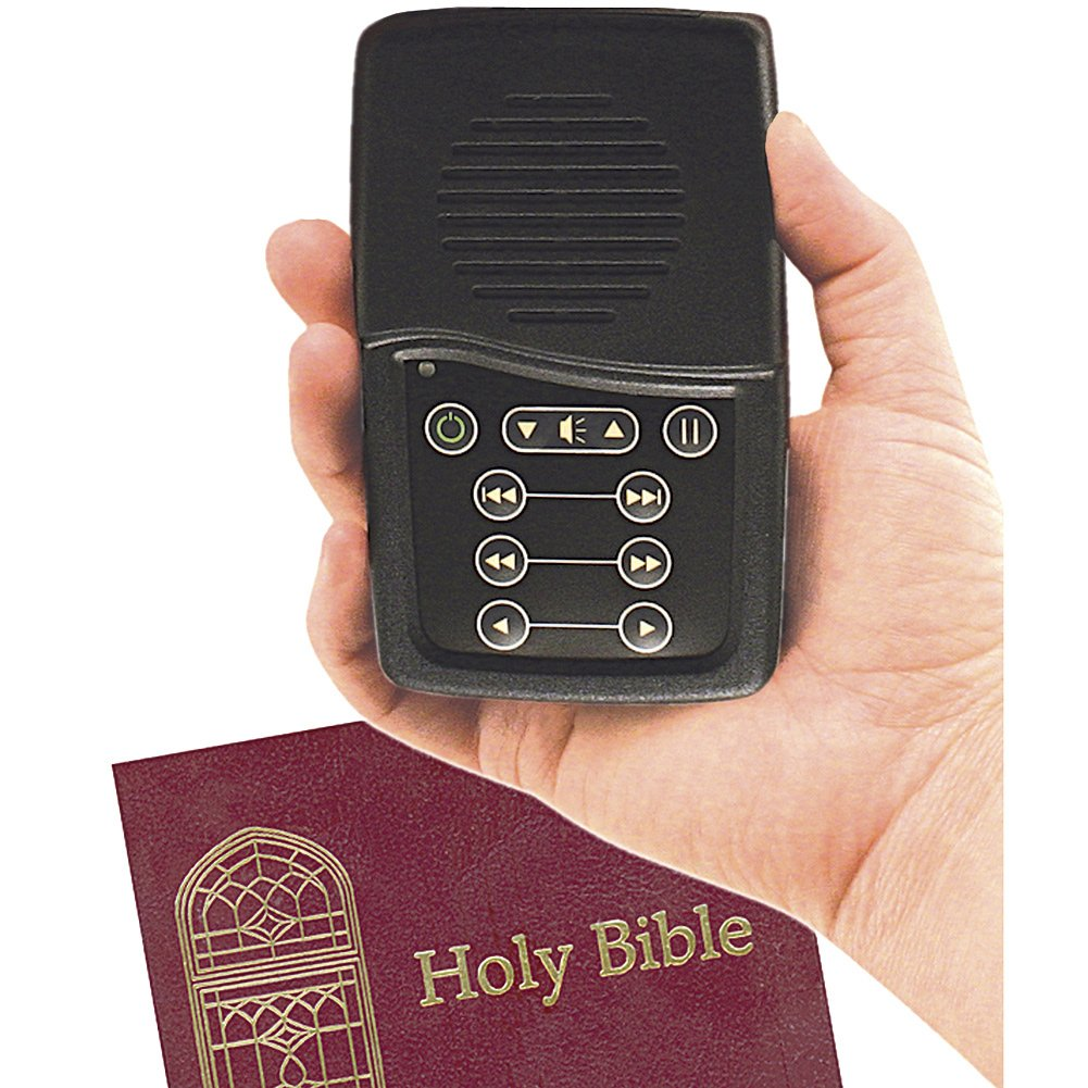 King James Version Hand-Held Solar Rechargeable Audio Bible By Paul Mims by SPEAK TO ME CATALOG