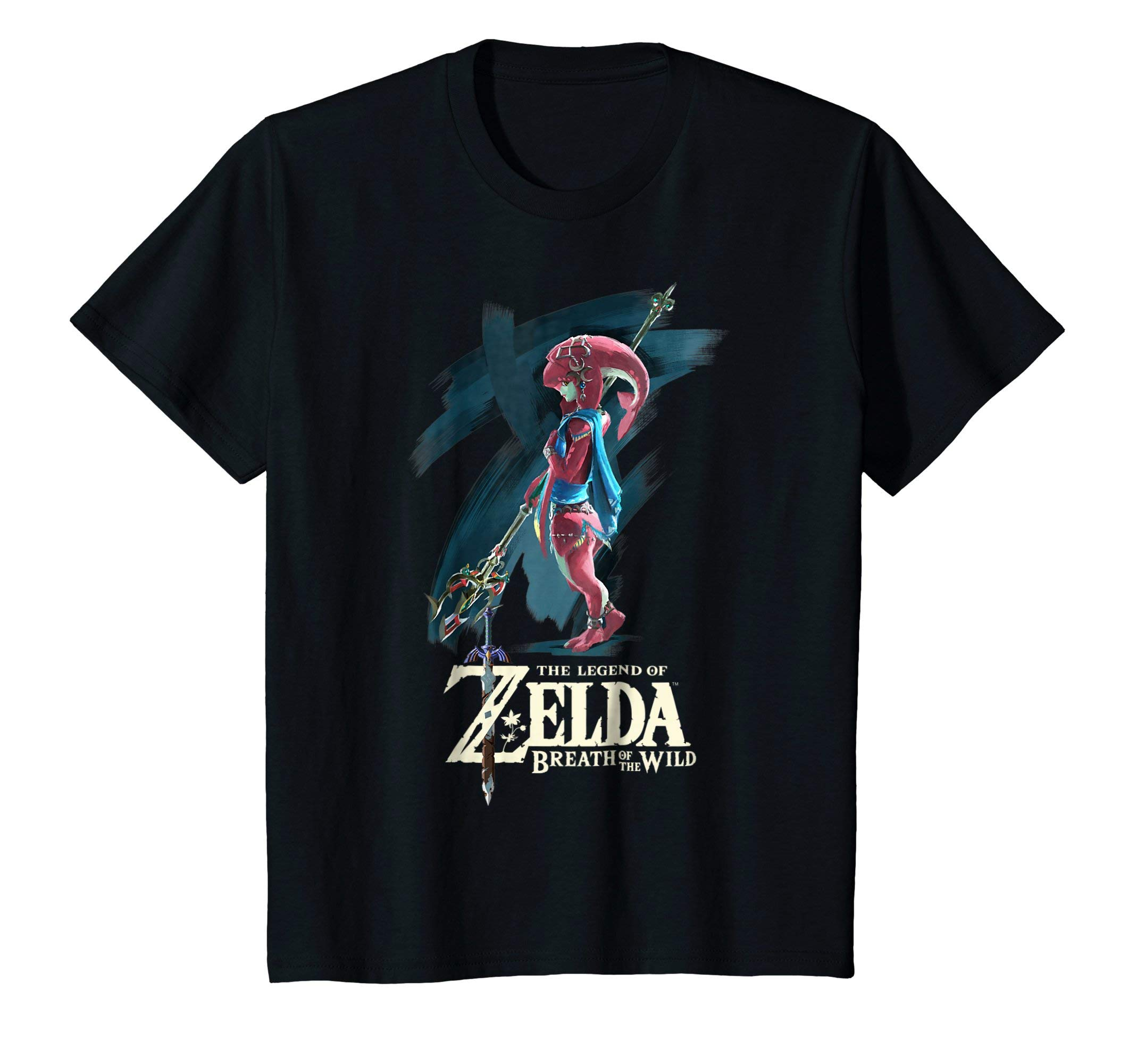 f73bea50c Galleon - Kids Nintendo Zelda Breath Of The Wild Mipha Paint Brush T-Shirt  10 Black