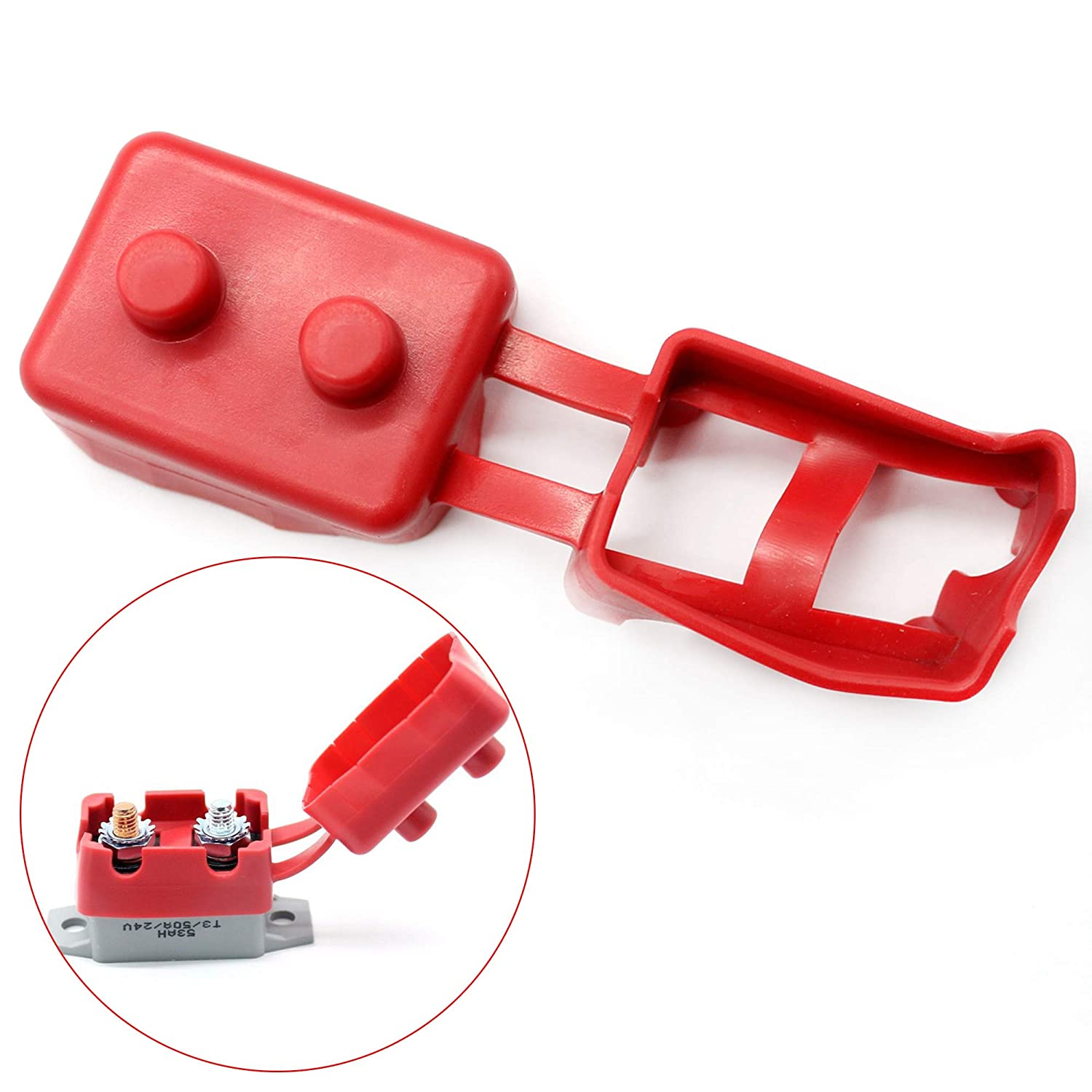 Red Shortstop Circuit Breaker Safety Protection Boot Cover IZTOSS