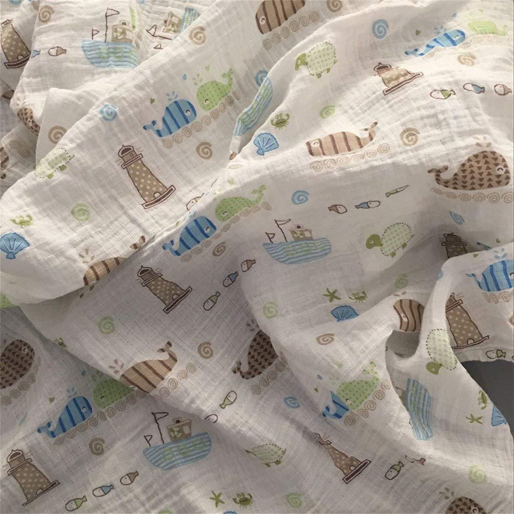 Multicolor 120x120cm Manta de muselina para beb/é manta para beb/é Algod/ón 100/% Reci/én nacido Toalla de ba/ño para beb/é Mantas Swaddle Multi Dise/ños Funciones