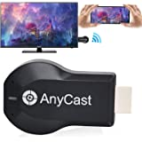JKFENEOR Anycast HDMI Wireless Display Adapter WiFi 1080P Mobile Screen Mirroring Receiver Dongle to TV/Projector Receiver Su