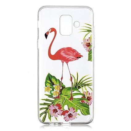 d683c2e65 WolinTek Funda Samsung A6 2018, Carcasa para móvil de TPU Gel Silicona,Case  Cover