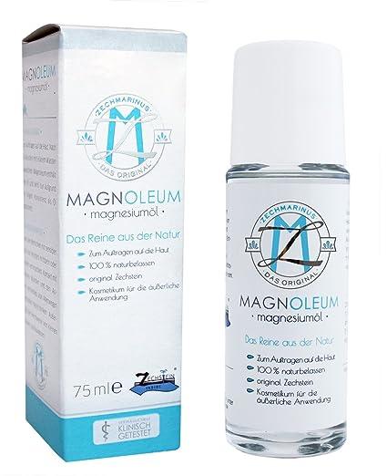 Magnesio Aceite Original Zechstein magnoleum rodillo para masaje 75 ml – dermatologically, clínicamente probado –