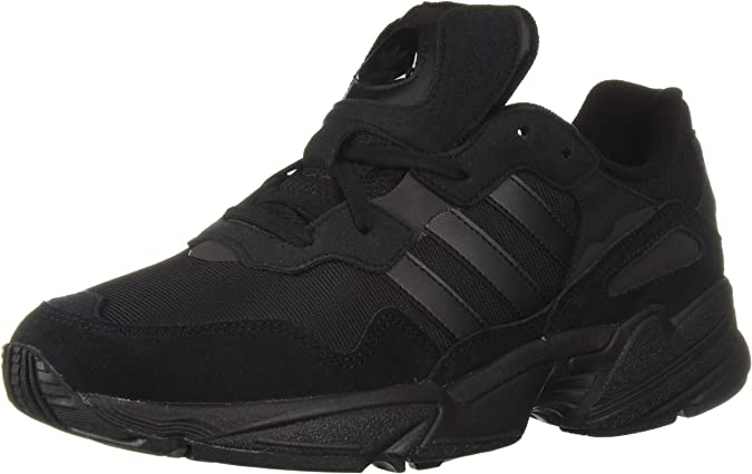 adidas Originals unisex-adult Yung-96, Black/Black/Carbon, 12 M US