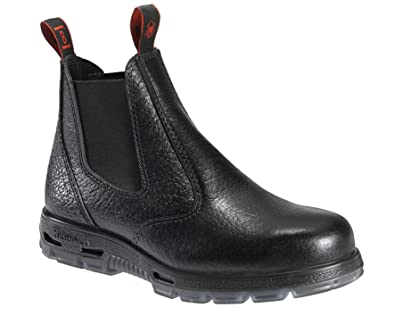 c79e8602bbd Redback Work Boots Easy Escape Steel Toe Black Rambler Leather Slip On USBBL