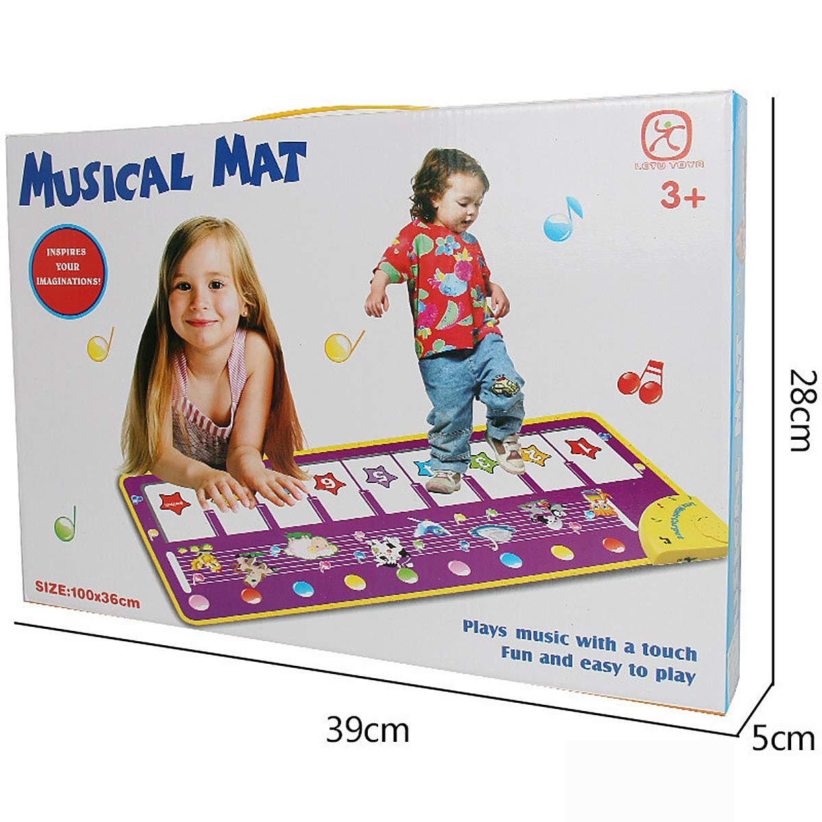Children's Electronic Piano Mat, Electronic Music Playmat Piano Mat Cartoon Animal Fun Crawling Blanket by Eustoma (Image #8)