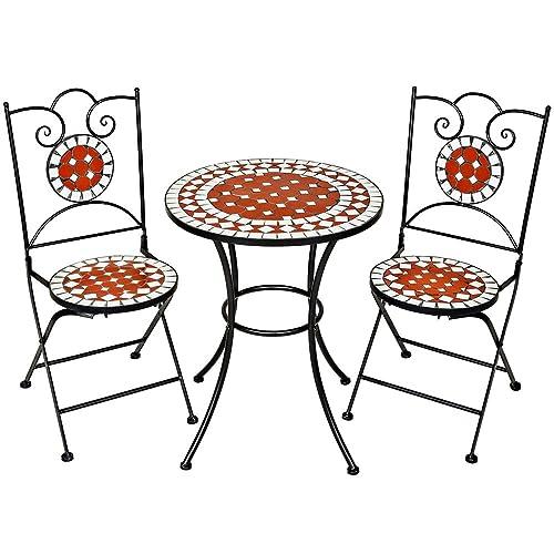 TecTake Mobilier De Jardin Mosaque Table Et Chaises Meuble Bistrot Bar Terrasse Balcon