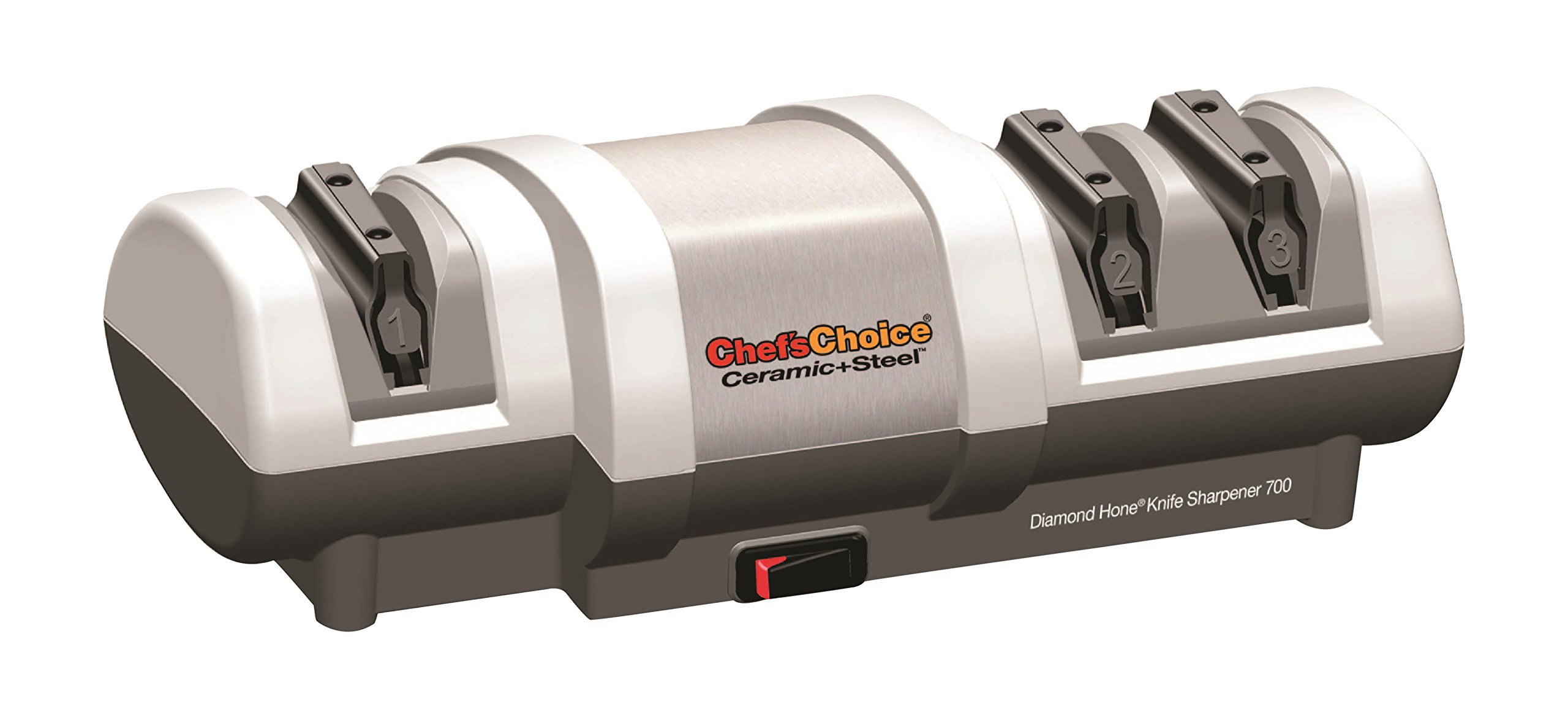 Chef's Choice 0170000 Chef's Choice700 Ceramic + Steel Diamond Hone Electric Knife Sharpener, White by Chef'sChoice