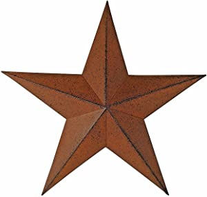 """Steel Metal Antique Barn Star Rustic Country Primitive Wall Décor Distressed Brown Black 11"""" (2)"""