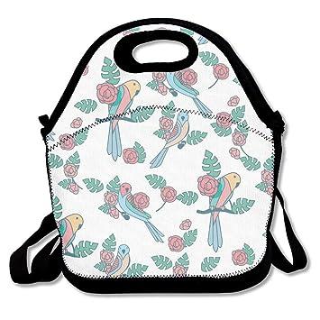8780bde98d Amazon.de  Budgie Parrot Beauty Pattern Lunch Bag Adjustable Strap