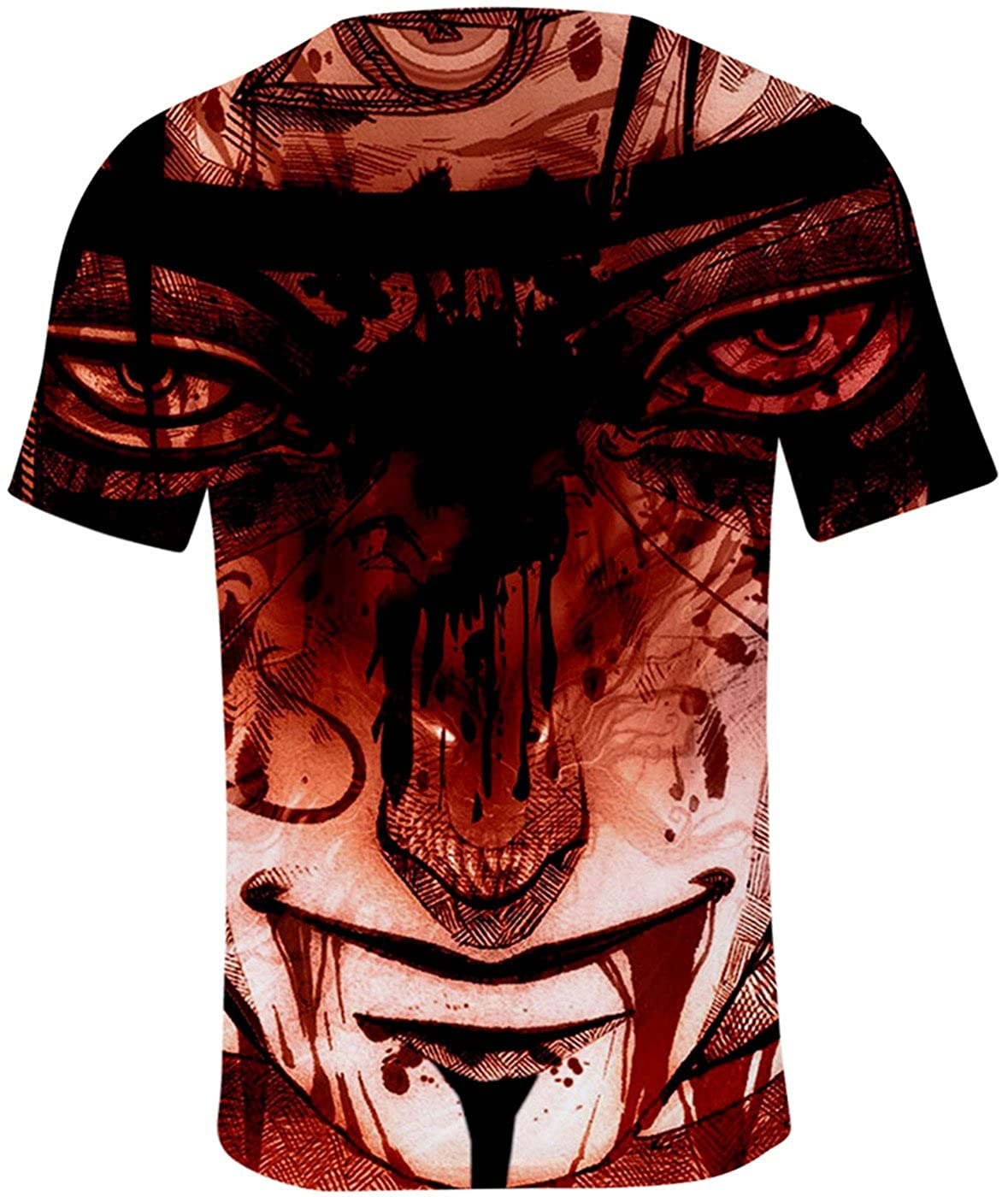 SERAPHY Unisexe T-Shirt Naruto Top d/ét/é Uchiha Syaringan Uzumaki Naruto Top Mode Hokage Ninjia Hatake Kakashi Shirt
