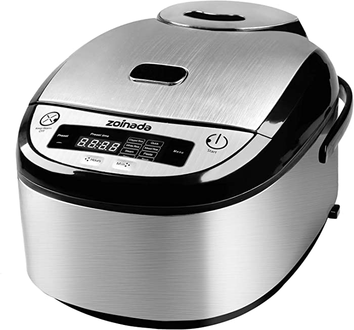 Rice Cooker, ZOINADA 16 Cup Cooked (8 Cup Uncooked) All-in-1 Programmable Multi Cooker, Stew, Steam, Pasta, Soup with 24 Hours Delay Timer and Auto Keep Warm Functions