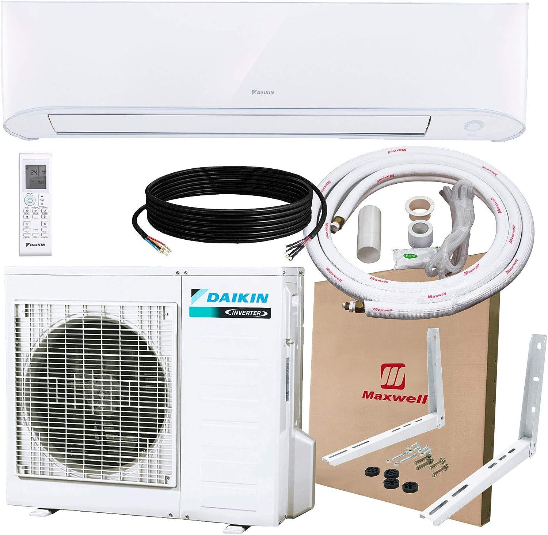 Amazon.com: DAIKIN 12,000 BTU 17 SEER Wall-Mounted Ductless Mini-Split A/C Heat Pump System Maxwell 15-ft Installation Kit (230V): Appliances