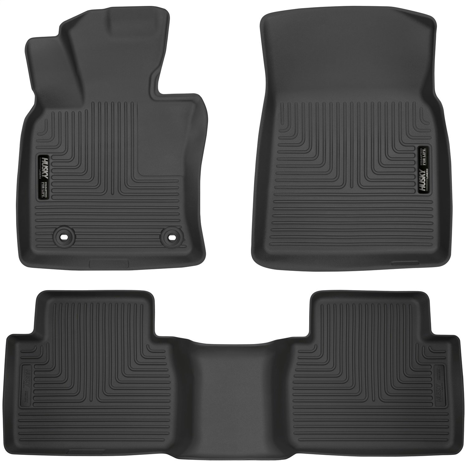 Husky Liners 95731 Black Front and 2nd Seat Floor Liner (Fits 18-18 Camry), 1 Pack